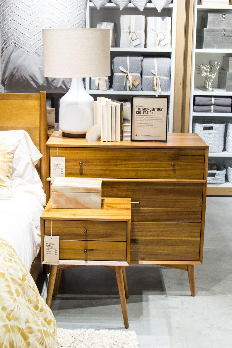 West Elm mid century modern inspired furniture