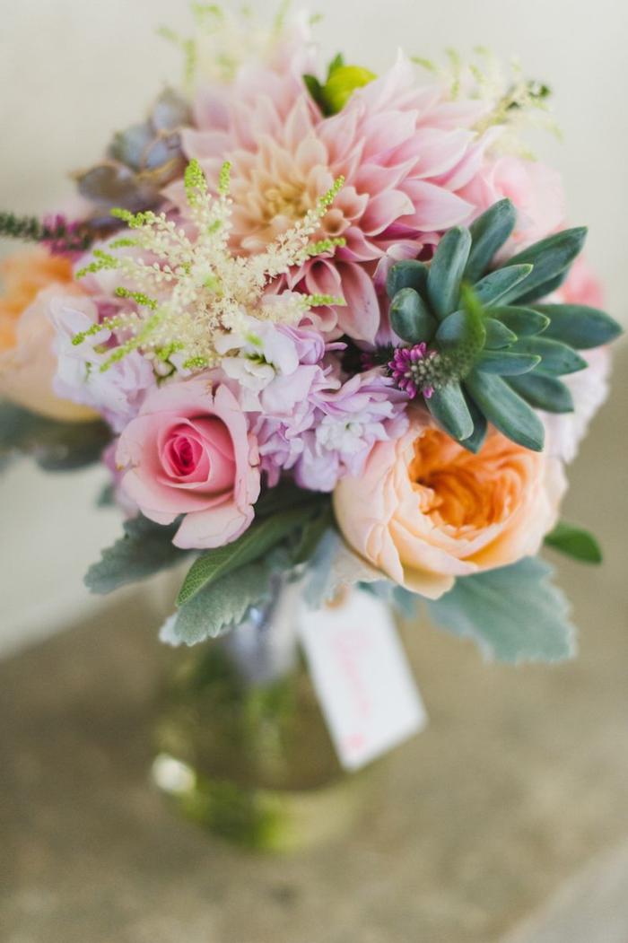 succulents_and_dusty_miller_bouquet