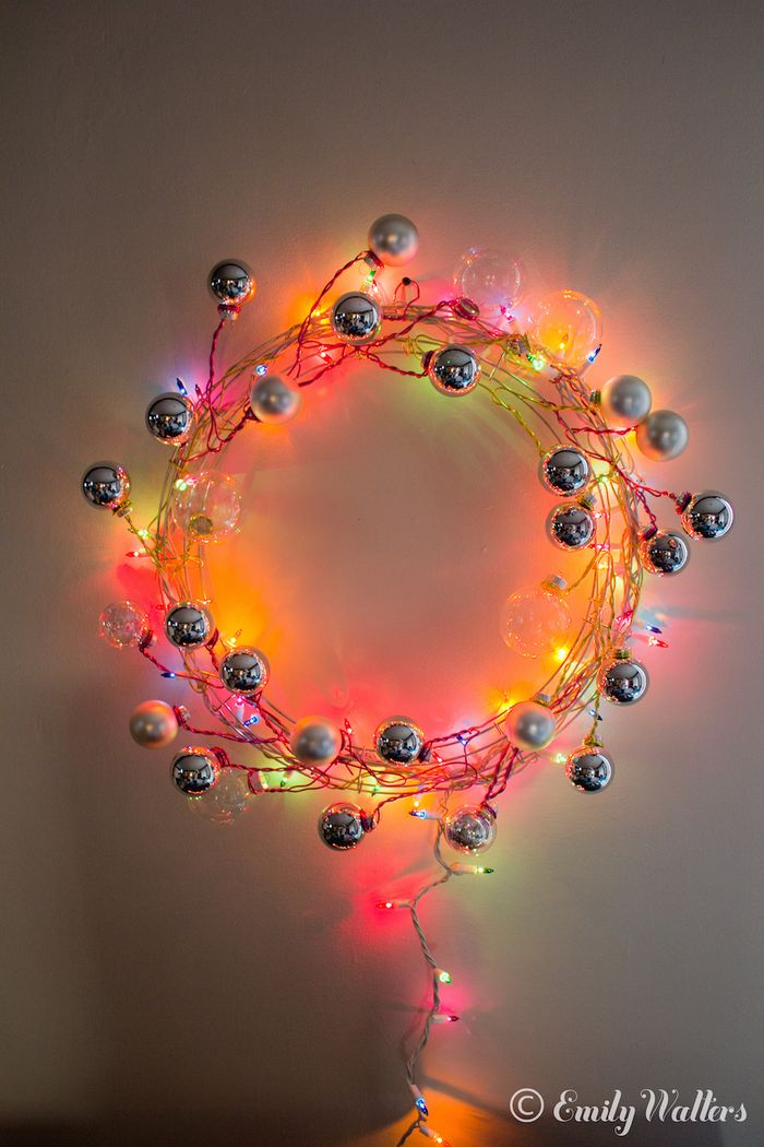 Handmaker of things christmas colorful lighted holiday wreath diy solutioingenieria
