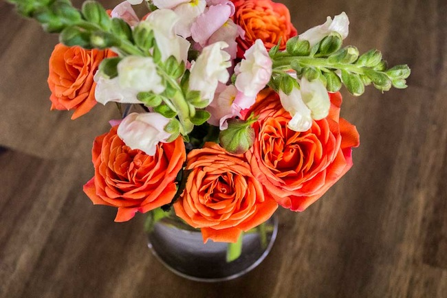 Orange-spray-roses