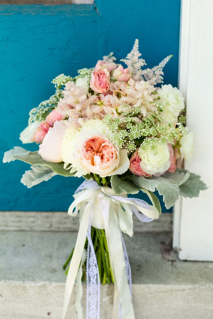 Blush and ivory bridal bouquet
