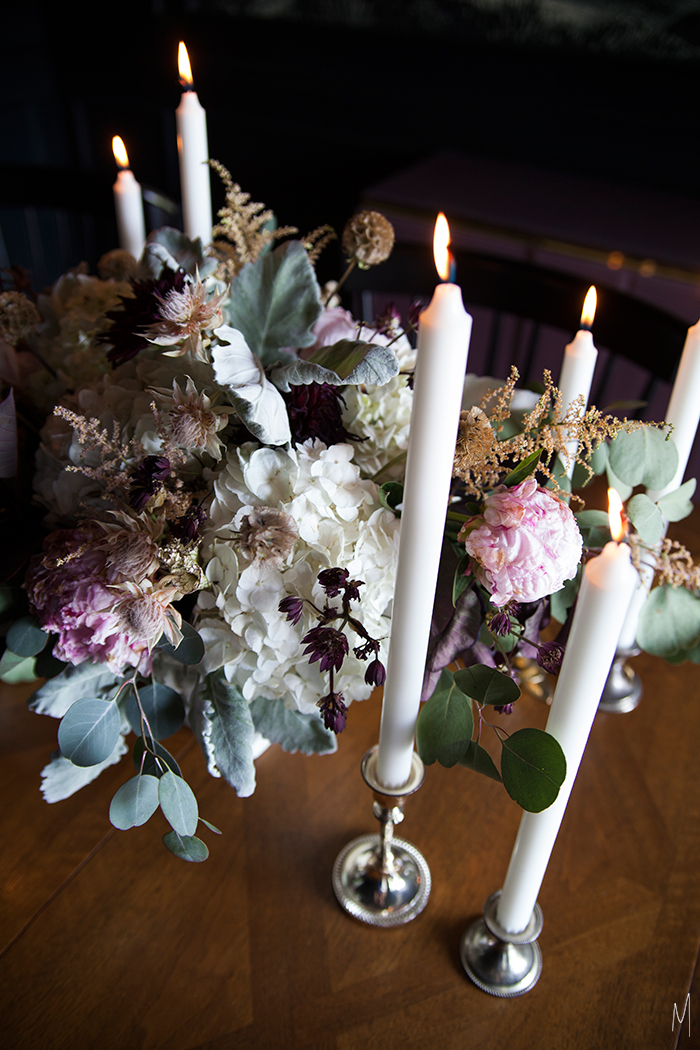 The-Makerista-Dining-Room-Peonies-Dahlias-Black-Candles-Walls-Traditional-Flowers