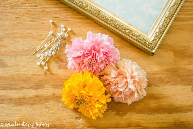 Framed Flower DIY-10