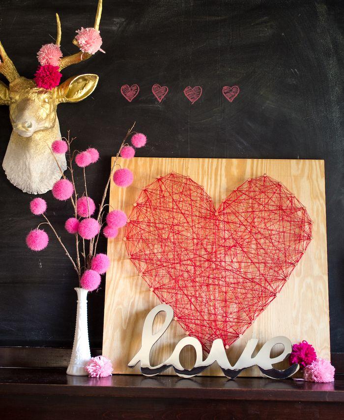 Heart String Art Decor