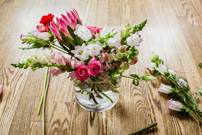 Turn your arrangement as you work