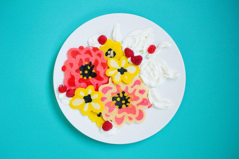 Floral Pancake Art DIY