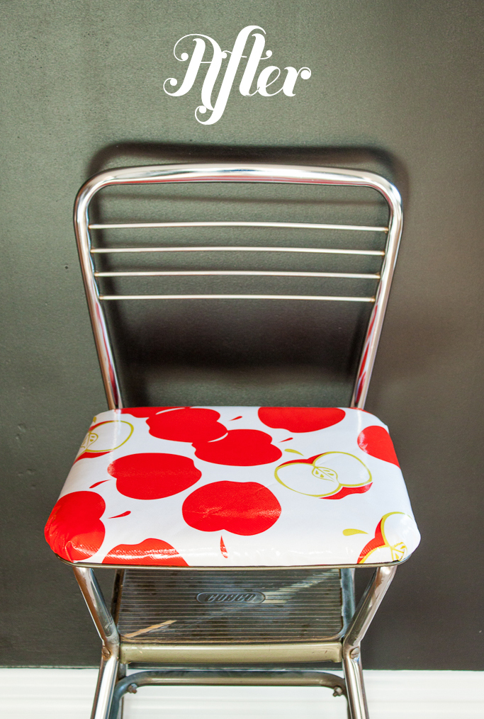 Re-upholstered-step-stool-diy