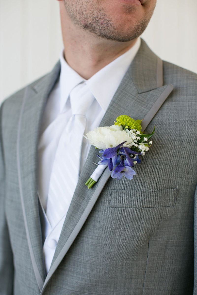 Blue-white-and-green-boutonniere