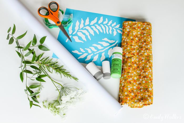 Stenciled-gift-wrap