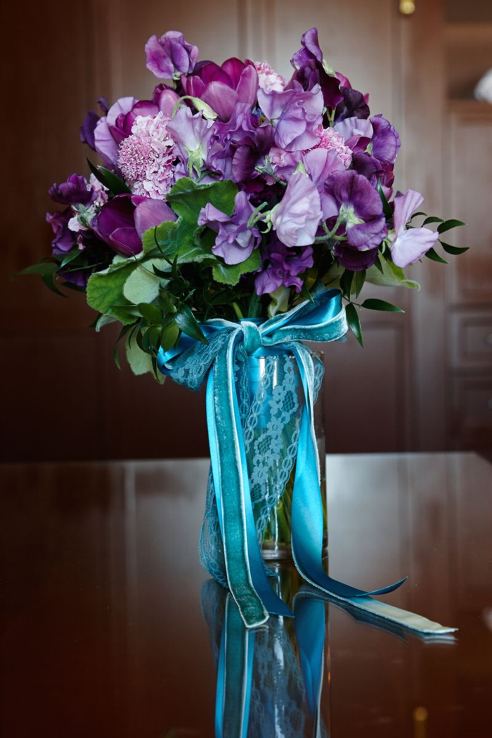 purple-spring-bouquet-with-teal-ribbon