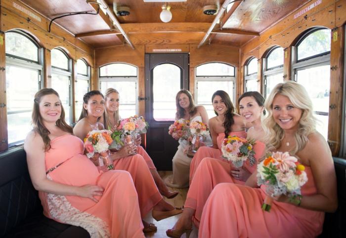 coral-bridesmaids-maxi-dresses