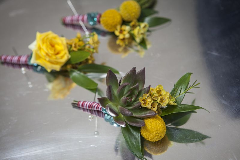 Billy-ball-and-succulent-boutonniere