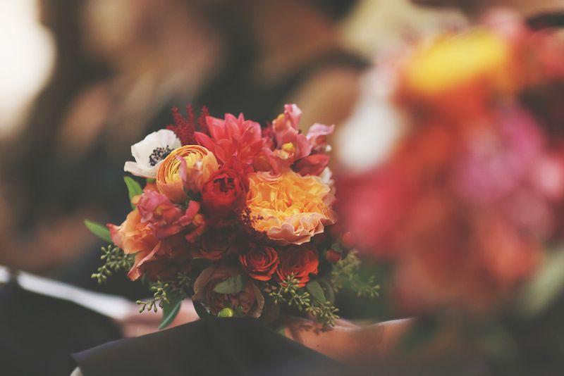 Coral-and-orange-wedding-flowers