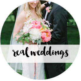 Real weddings fave button