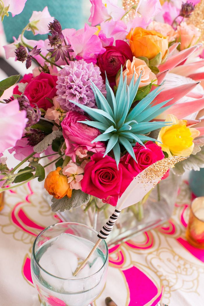 Turquoise-magenta-and-gold-wedding