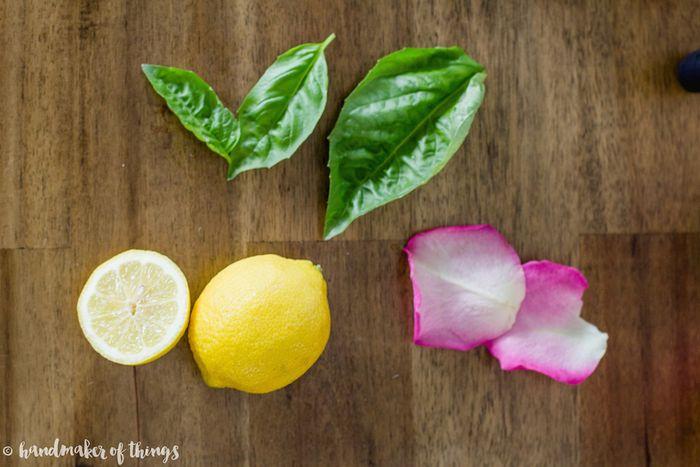 Basil rose lemonade cocktail-4