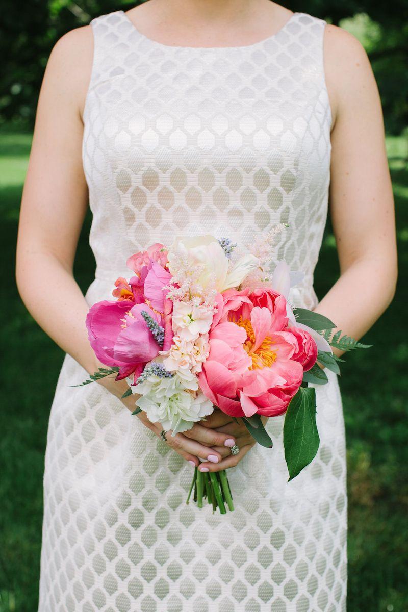 Peony bridesmaids bouquet