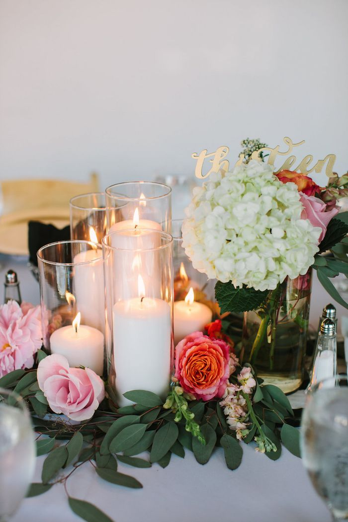 Candlelight wedding reception