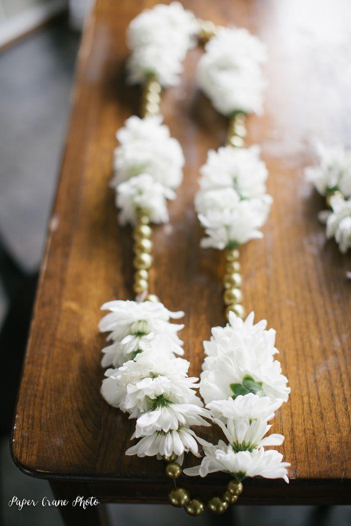 Gold-and-white-varmala