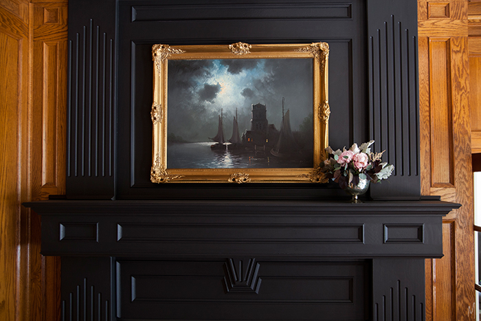 The-Makerista-Wood-Room-Fireplace-Black-Oil-Painting-Flowers