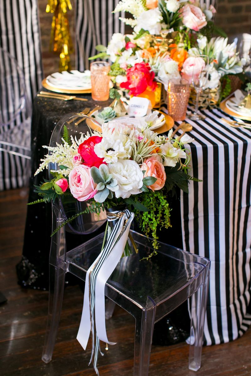 Black-and-white-stripe-wedding
