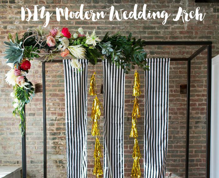 DIY Modern Wedding Arch
